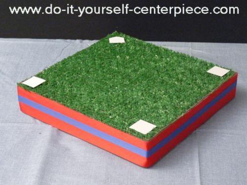 baseball themed centerpieces ideas | DIY (Do It Yourself) Baseball Infield as a Centerpiece Base ...