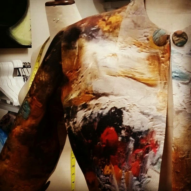 oil paint design cropped jacket  @somadesign.com.au