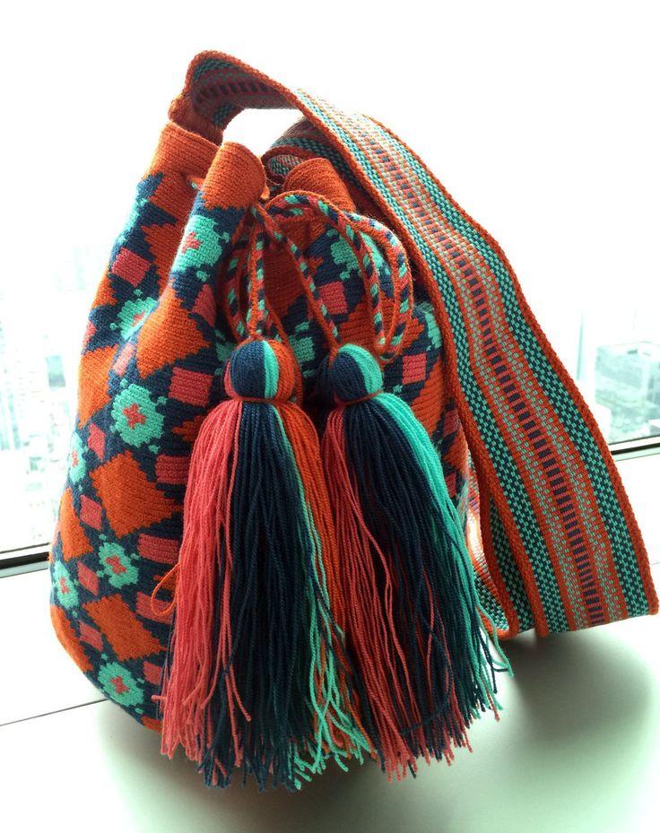 Wayuu Bag- Traditional Red-orange - Alynshop