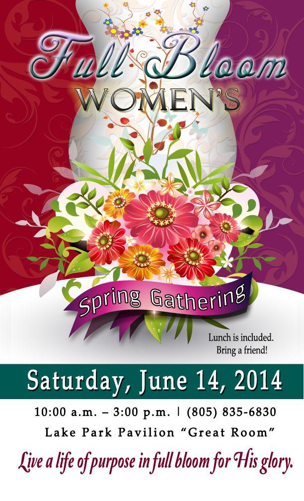 women u0026 39 s ministry event flyer