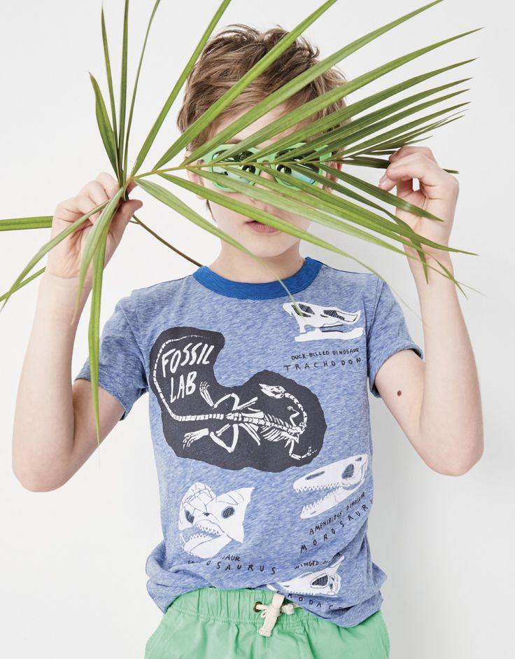 crewcuts boy's glow-in-the-dark fossil T-shirt.