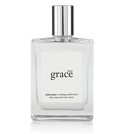 The light and clean Pure Grace by Philosophy smells like you just stepped out of the shower, cuddled into a warm fuzzy towel, and put on your favorite t-shirt and jeans. Soap and water simple.