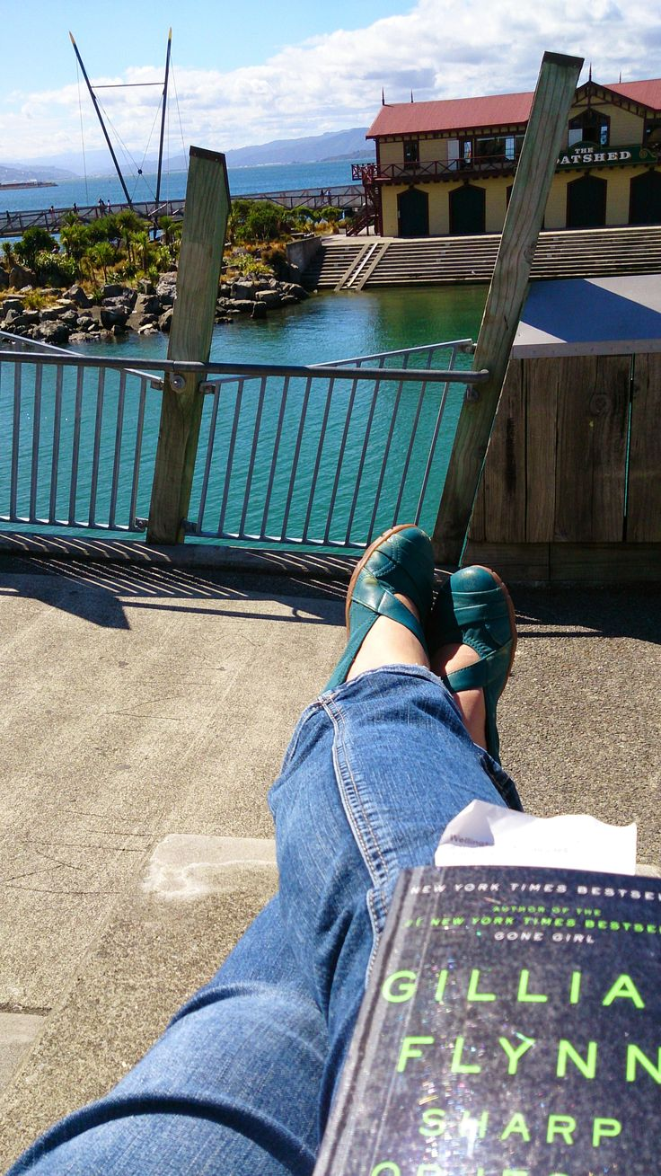 A sunny day in Wellington is a great time to enjoy the view of the lagoon from up high while reading a good book. - photo by Ligia Horta