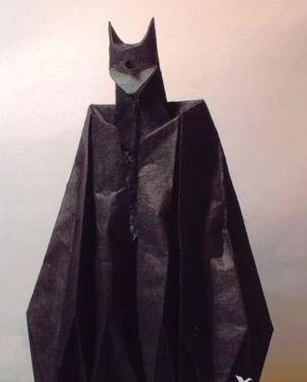 Batman origami tutorial / diagrams - For Em :-)