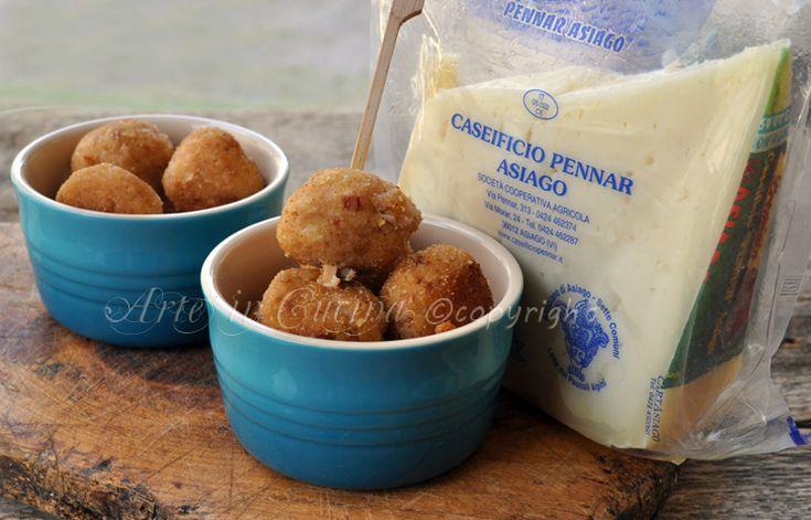 Polpette di prosciutto e formaggio Asiago