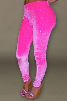 Pink Sparkly Leggings