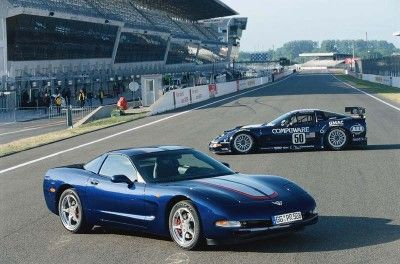A Commemorative Edition package was available on all 2004 Corvettes.   It included the LeMans Blue paint as well as special badges inside and out.