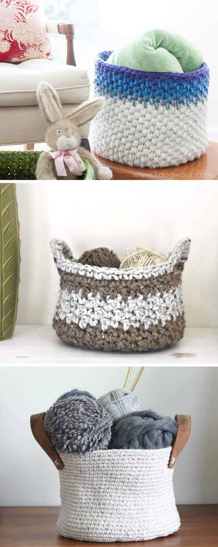 20 Free Crochet Basket Patterns | crochet 42 | Pinterest | Crochet ...