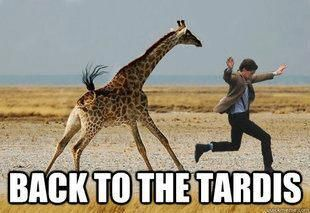 I love this so much!!! Giraffes and Doctor Who, talk about two of my favorite things!