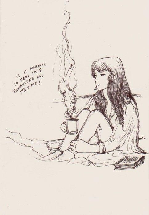 """""""Oi eu sou a Jenny, e se você gosta de desenhos e ilustrações inerentemente tristes, você veio ao lugar certo."""" É assim que Jenny, do tumblr The Crack-Up s"""