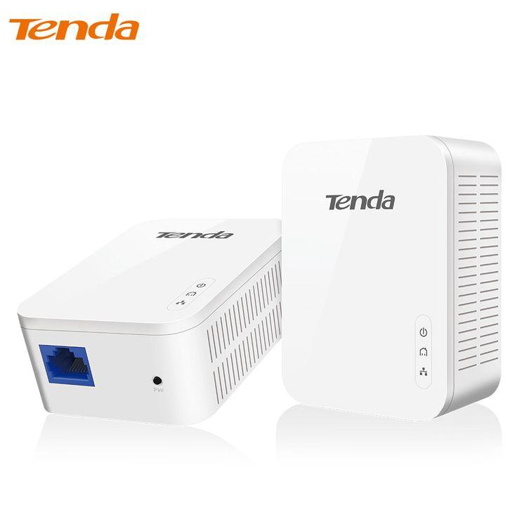 1 Paar Tenda PH3 1000 Mbps Powerline Netwerk Adapter, AV1000 Ethernet PLC Adapter, Draadloze WiFi Router Partner, IPTV, Homeplug AV2