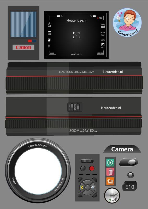 knipvel voor pimpen van camera en lezen, kleuteridee.nl, free printable, thema fotograaf, foto