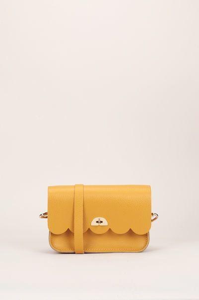 The Cambridge Satchel Company Cloud bag small mustard celtic grain Split leather - 351149 - MSR Monshowroom.com