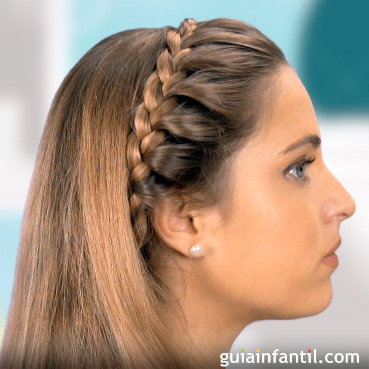 trenza de diadema para nias peinados infantiles