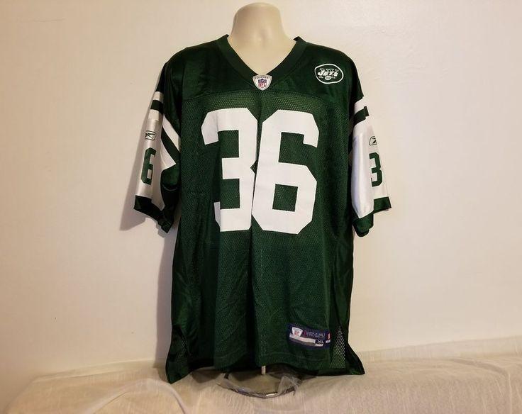 Vintage Reebok NFL Jim Leonhard New York Jets #36 Adult Green XL Football Jersey #Reebok #NewYorkJets