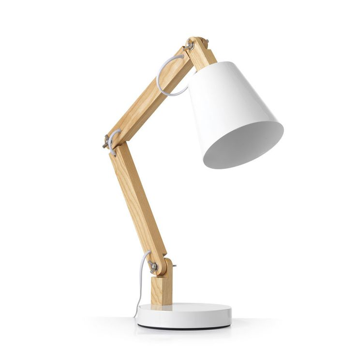 Tully Desk Lamp White – Black Mango