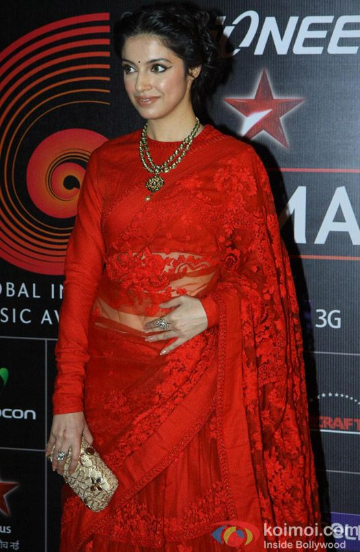 Director Diya Khosla Kumar in Sabyasachi @ Global Indian Music Awards (GIMA) Jan, 2014