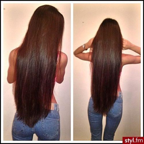 Fryzury Brązowe włosy: Fryzury Długie Na co dzień Proste Rozpuszczone Brązowe - maniapp3 - 2160343