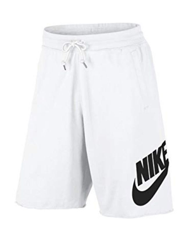 Nike Sportswear French Terry Logo Shorts White//Black Men/'s Size XL 836277-100