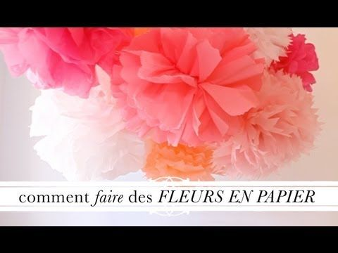 tuto d co comment faire des fleurs en papier youtube polym re objets d co pinterest. Black Bedroom Furniture Sets. Home Design Ideas