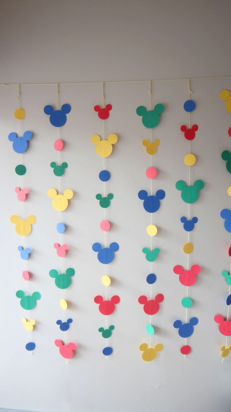 Mickey Mouse Birthday Garland, Mickey Mouse Backdrop, Mickey Mouse Banner, Mickey Mouse Clubhouse,Classic Mickey Birthday,Mickey Mouse Party by BeebasShop on Etsy https://www.etsy.com/listing/578248628/mickey-mouse-birthday-garland-mickey
