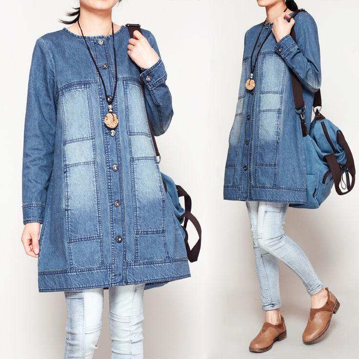 Reviews: Women Demin Dress Loose Jeans Shirt Casual Blouse Thin ...