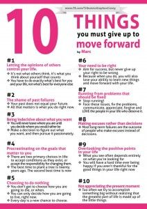 Ten things you must give up ~PositiveMed   Stay Healthy. Live Happy