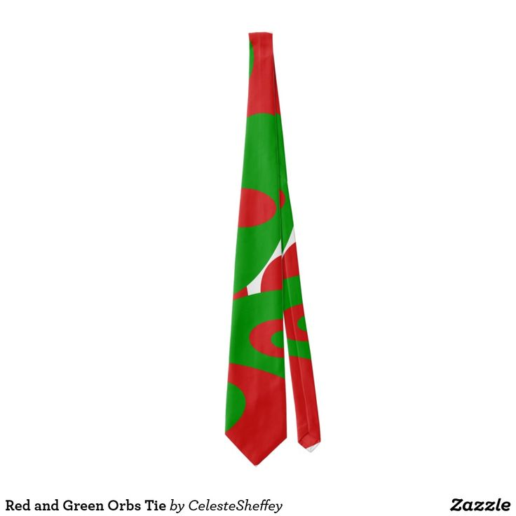 Red and Green Orbs Tie