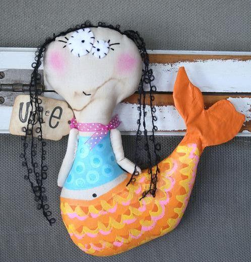Mermaid named Zina от buttuglee на Etsy