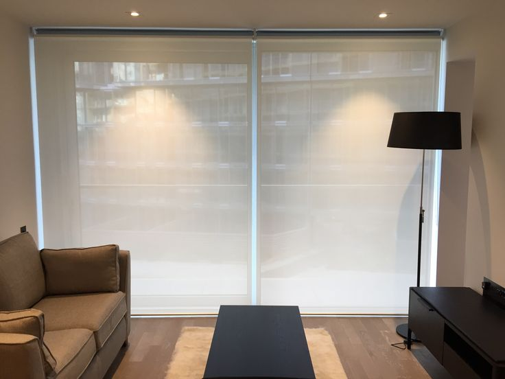 Double Dual Roller Blinds Showing The Sunscreen Blind Down