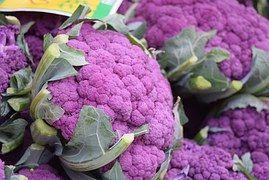 Légumes, Chou Fleur, Violet, Purple