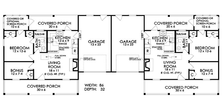 25 b sta duplex design id erna p pinterest deco for Duplex plans for seniors