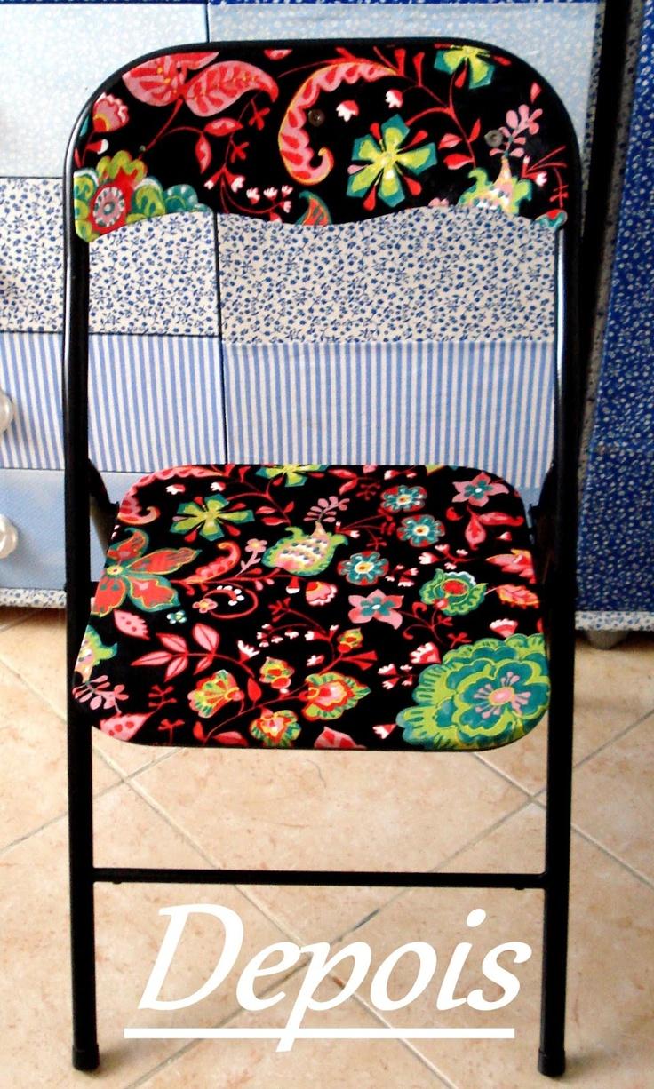 Cadeira da Elaine ANTES/ DEPOIS