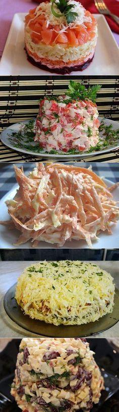 Подборка 10 самых вкусных салатов! Забираем, что бы не потерять! | Кулинария. Закуски. Салаты | Постила