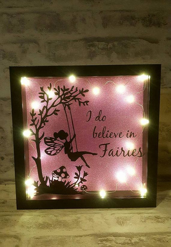 I Believe In Fairies Light Up Box Frame
