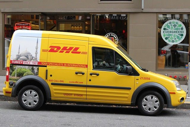 Dhl Ford Transit Commercial Van Small Trucks