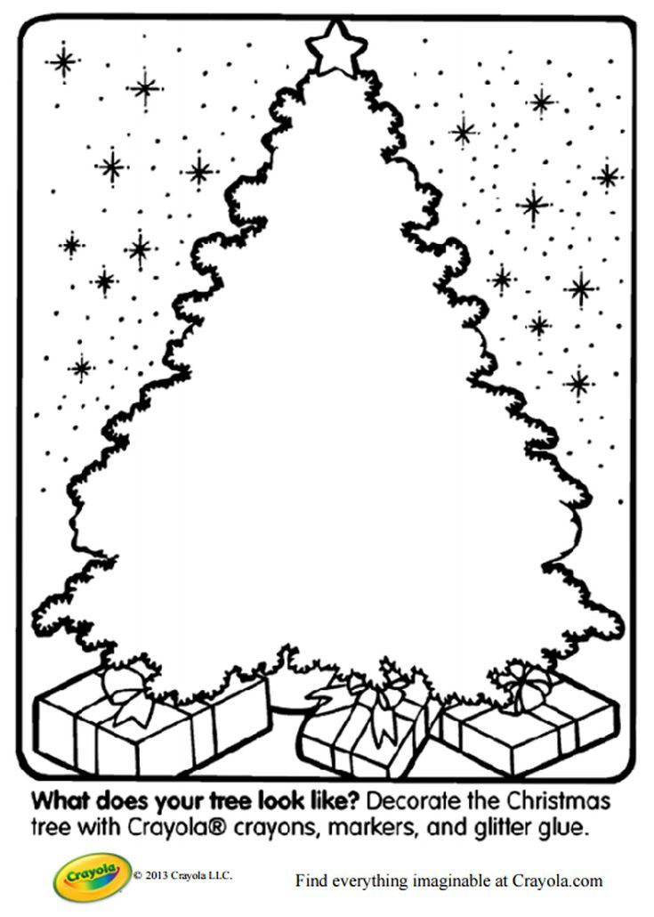Free Christmas Tree Coloring Pages For The Kids Printable