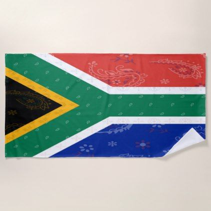 South AFrica Flag Beach Towel - trendy gifts cool gift ideas customize