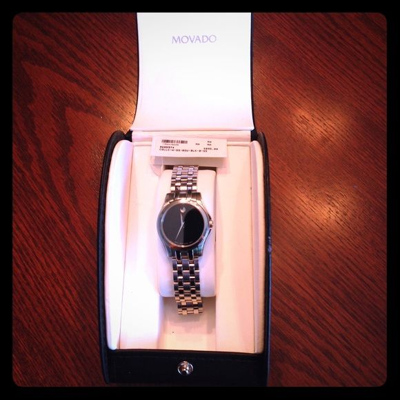 End of year sale❗️Movado Womens Authentic Watch ‼️ END OF YEAR SALE ‼️Women's Authentic Swiss Movado Corporate Exclusive Stainless Steel Watch. Worn only a few times. Excellent condition. A truly beautiful piece. Movado Jewelry