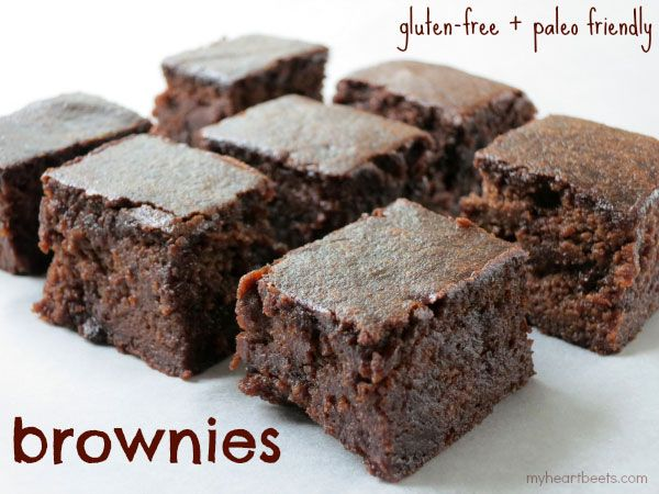 Make these fudgy, grain-free brownies in your blender! Blend, Pour,  Bake!   Blender Brownies + Blendtec Giveaway! - My Heart Beets
