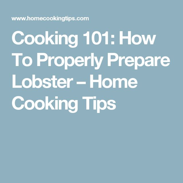 Cooking 101: How To Properly Prepare Lobster – Home Cooking Tips