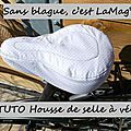Tuto housse de selle pour vélo