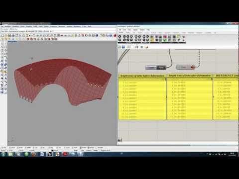 Form Finding Experiment | Gridshell | Grasshopper + Kangaroo - YouTube