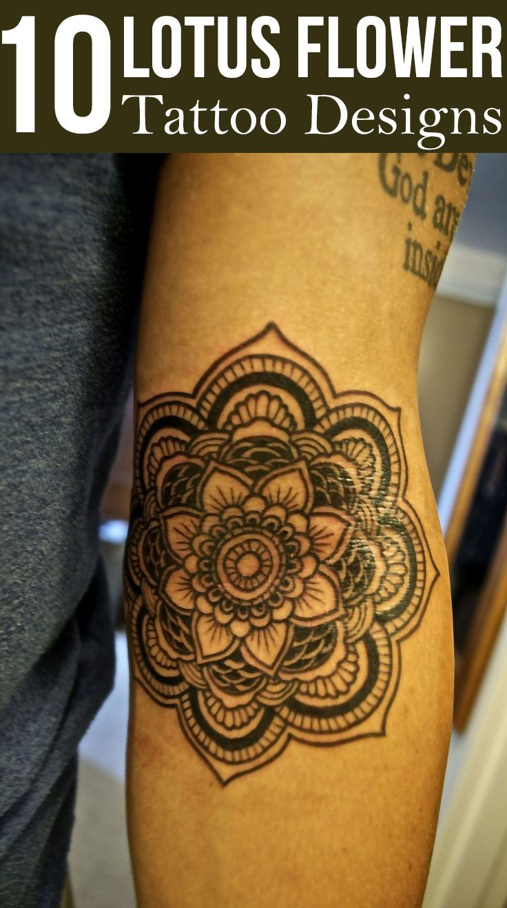 These top ten lotus tattoo designs are perfect examples of contemporary tattoo art using the lotus motif.