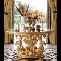 Stylish Foyer Center Tables & Luxury Display Cabinetry - Bernadette Livingston - Bernadette Livingston