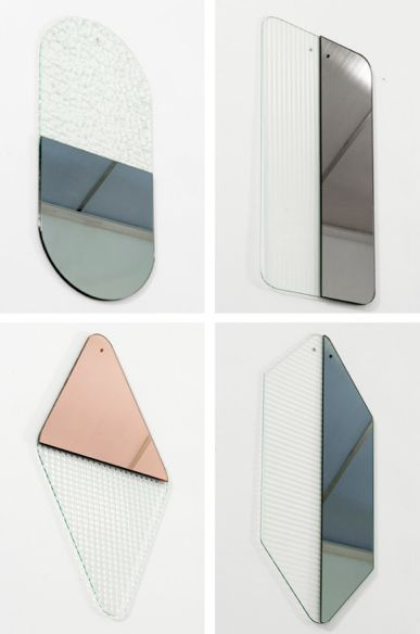 Cristina Celestino. Obei Obei mirrors. Inspired by the architecture of Milan.