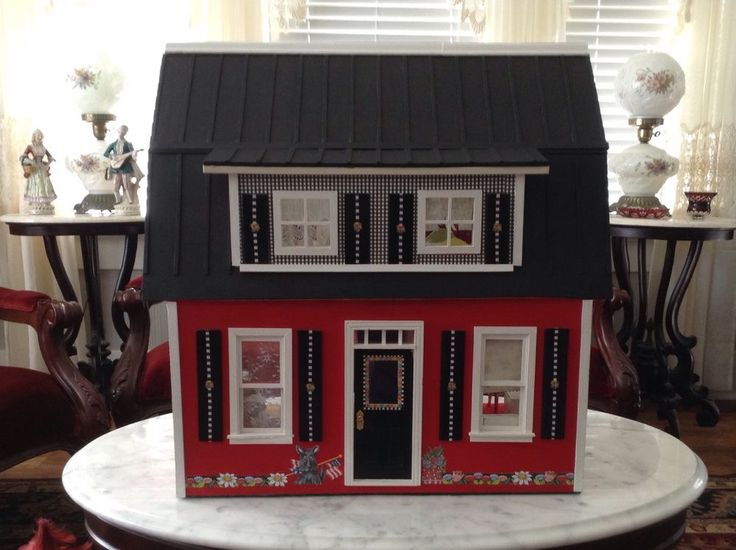 Mary Engelbreit Dollhouse With Furniture Rare Find Quality Set