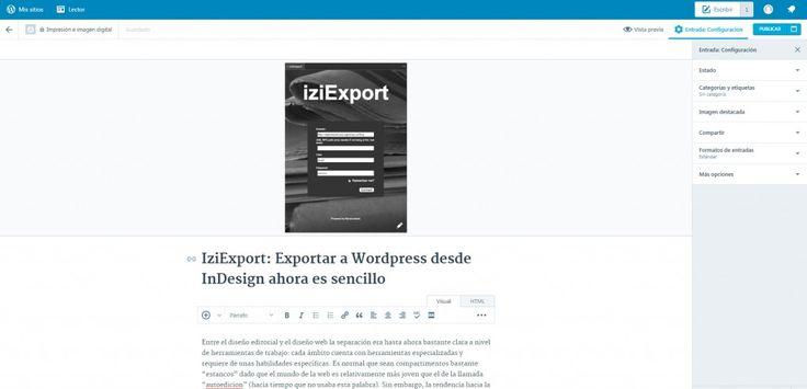 IziExport: Exportar a Wordpress desde InDesign en 3 clicks | Desfaziendo