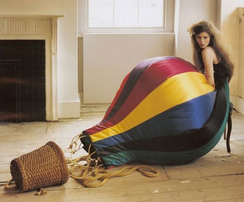 Hot-air balloon skirt-probably high fashion but I find it hi-larious!
