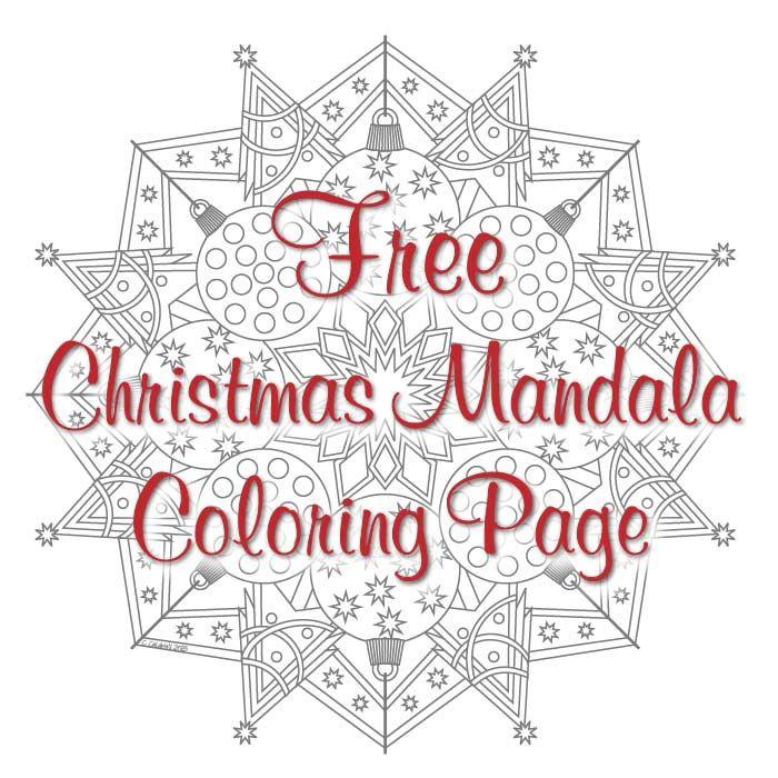 Christmas Mandala Coloring Page Free Pdf Download Posts